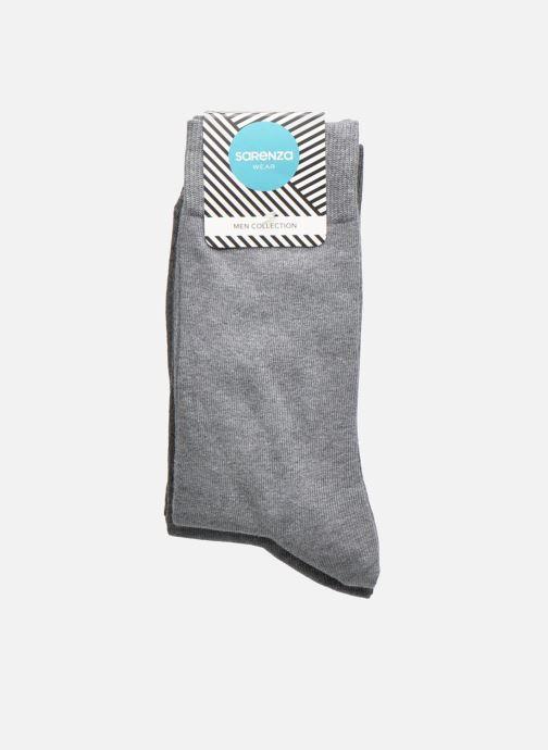 Chaussettes et collants Sarenza Wear Chaussettes Pack de 3 Homme Coton Gris vue portées chaussures