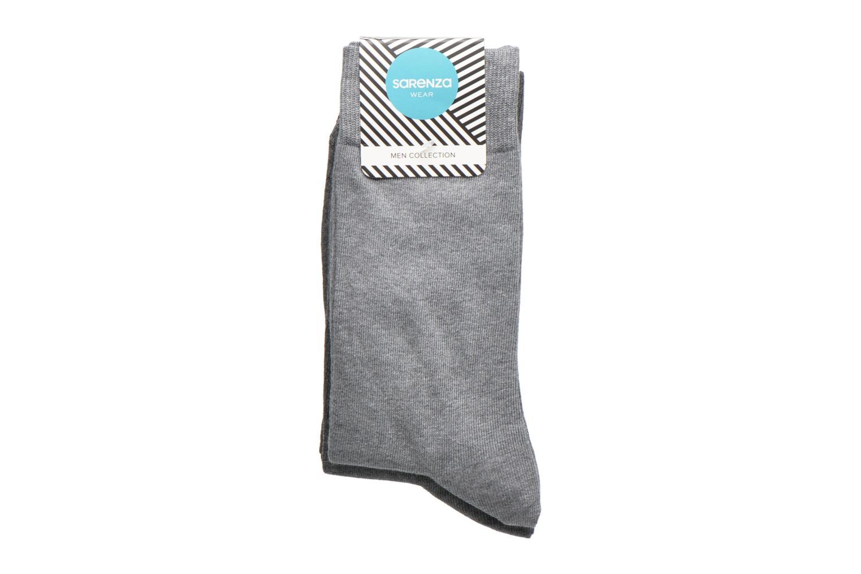 Socks & tights Sarenza Wear Chaussettes Pack de 3 Homme Coton Grey model view