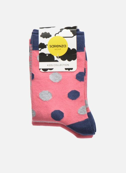 Socken & Strumpfhosen Sarenza Wear Chaussettes pois Pack de 3 Enfant coton rosa ansicht von hinten