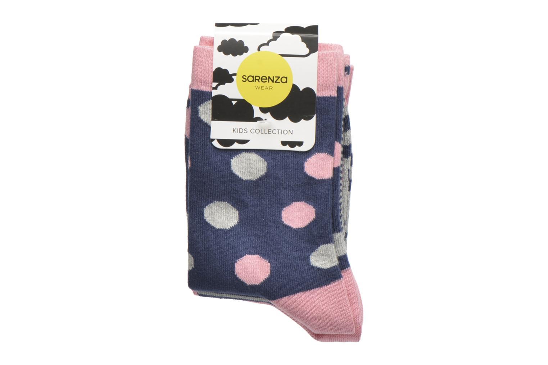 Sokken en panty's Sarenza Wear Chaussettes pois Pack de 3 Enfant coton Blauw achterkant