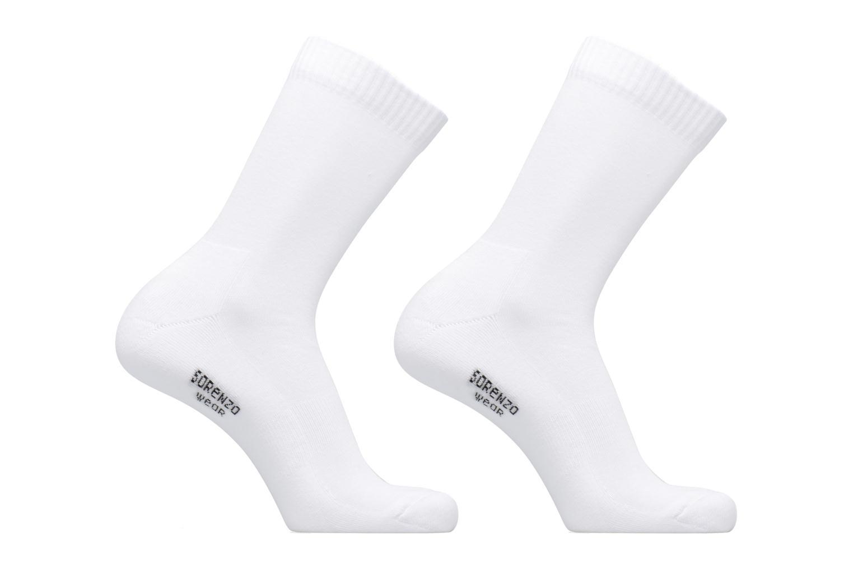 Medias y Calcetines Sarenza Wear Chaussettes sport hautes Pack de 2 homme Blanco vista de detalle / par