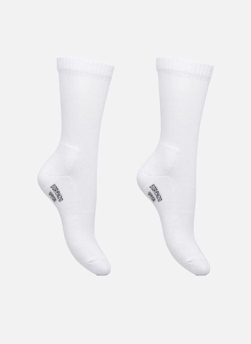 Chaussettes et collants Sarenza Wear Chaussettes sport hautes Pack de 2 femme Blanc vue détail/paire