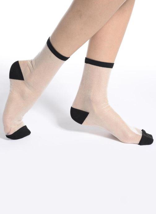 Chaussettes et collants Sarenza Wear Chaussettes transparente Femme Noir vue haut