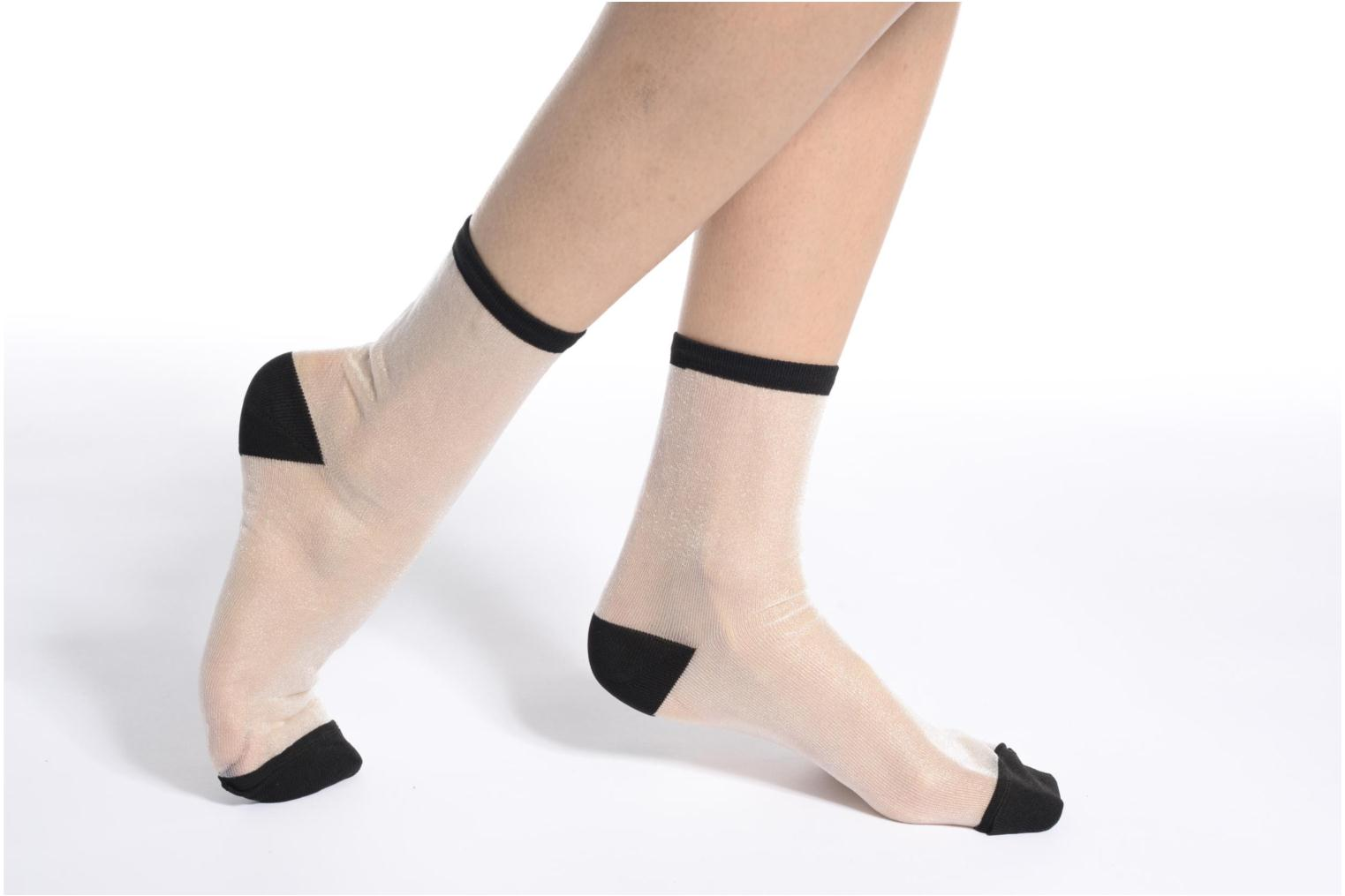 Socks & tights Sarenza Wear Chaussettes transparente Femme White view from above