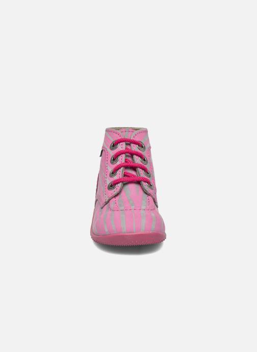 Botines  Kickers Bonbon II Rosa vista del modelo