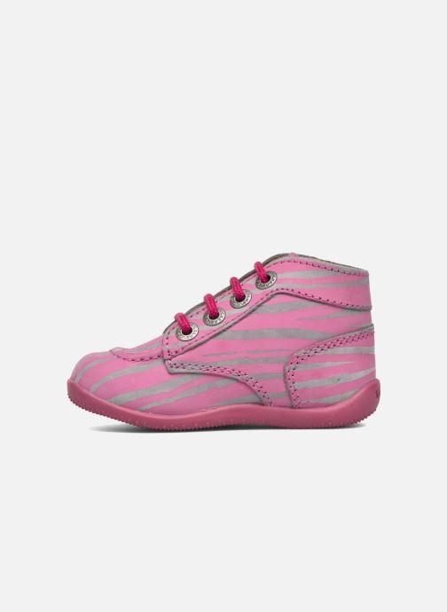 Ankelstøvler Kickers Bonbon II Pink se forfra