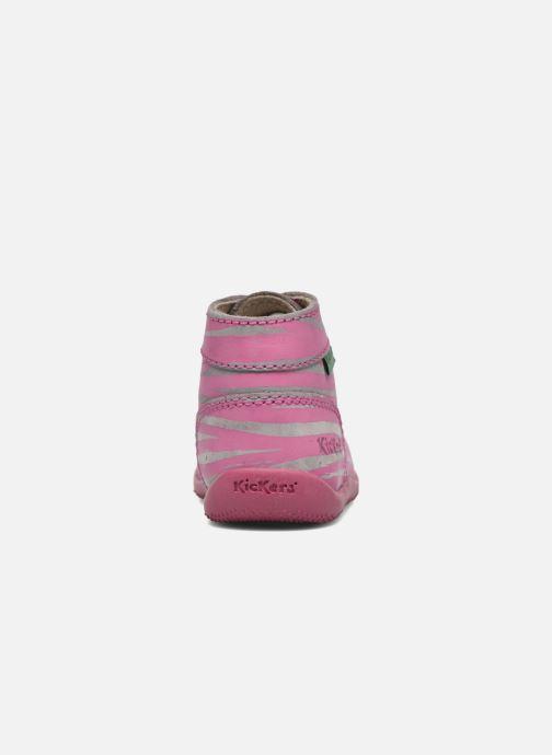 Stivaletti e tronchetti Kickers Bonbon II Rosa immagine destra