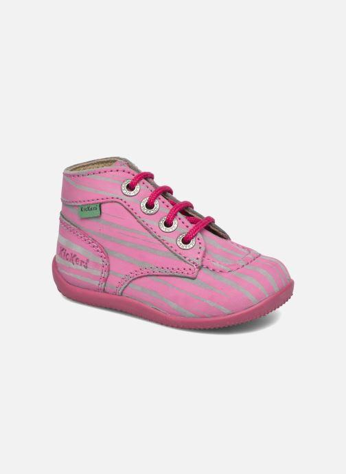 Boots en enkellaarsjes Kickers Bonbon II Roze detail