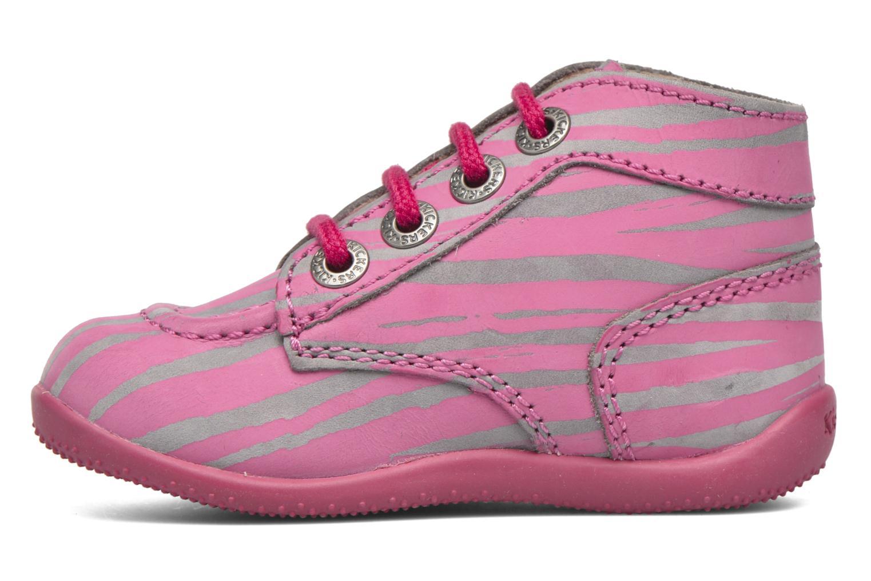 Bottines et boots Kickers Bonbon II Rose vue face