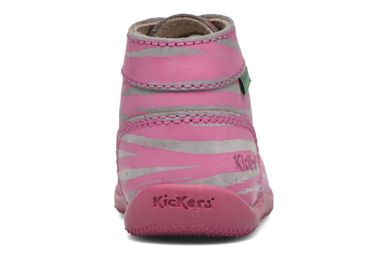 Botines  Kickers Bonbon II Rosa vista lateral derecha