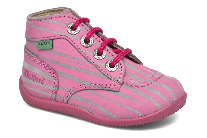 Bottines et boots Kickers Bonbon II Rose vue détail/paire