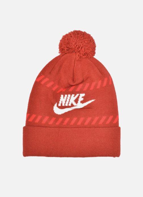 Bonnets Nike Futura Pom Beanie-Red Bonnet Rouge vue portées chaussures