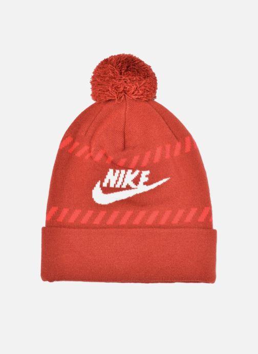 Mütze Nike Futura Pom Beanie-Red Bonnet rot detaillierte ansicht/modell