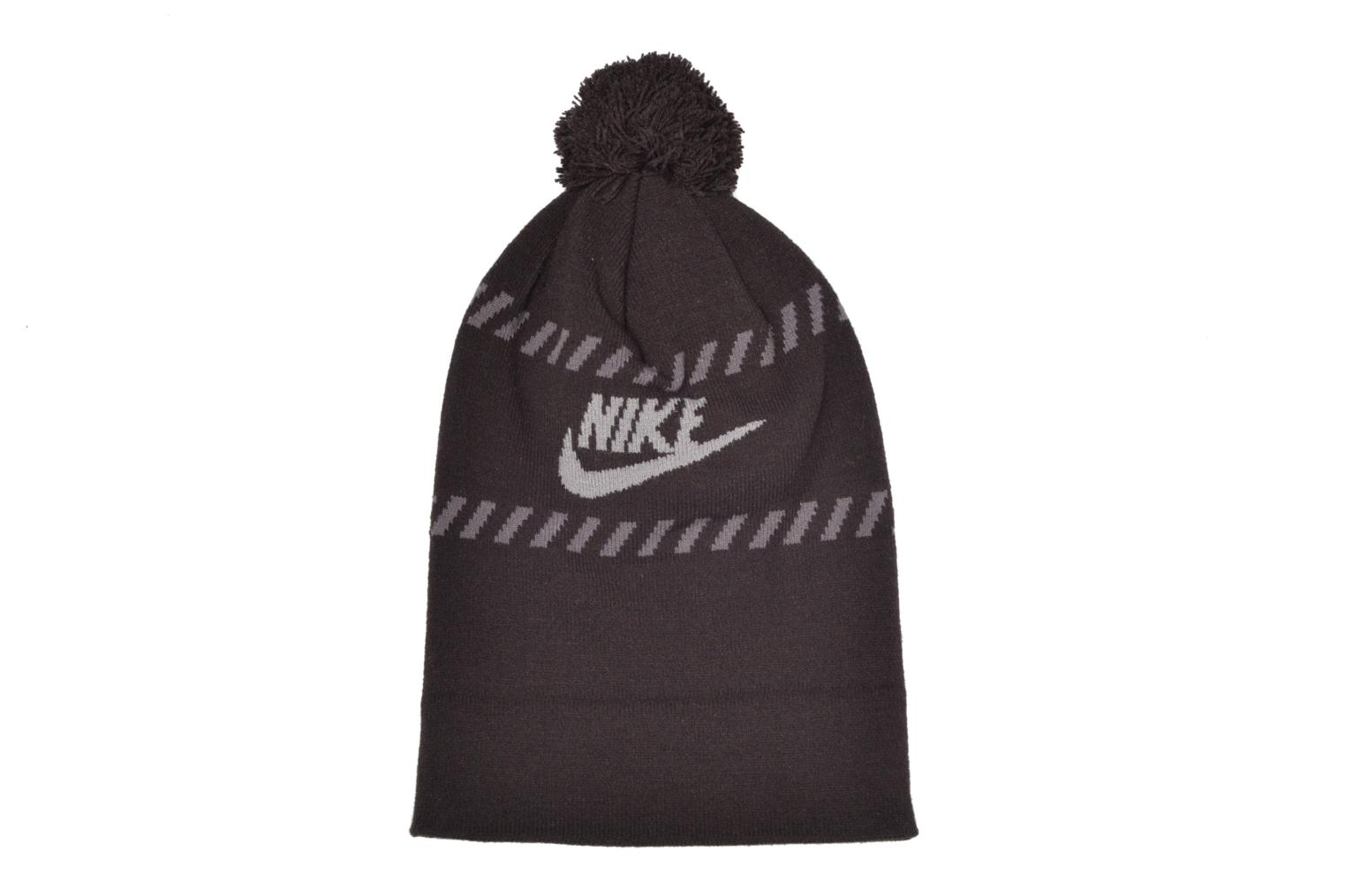 Beanie Nike Futura Pom Beanie-Red Bonnet Black model view