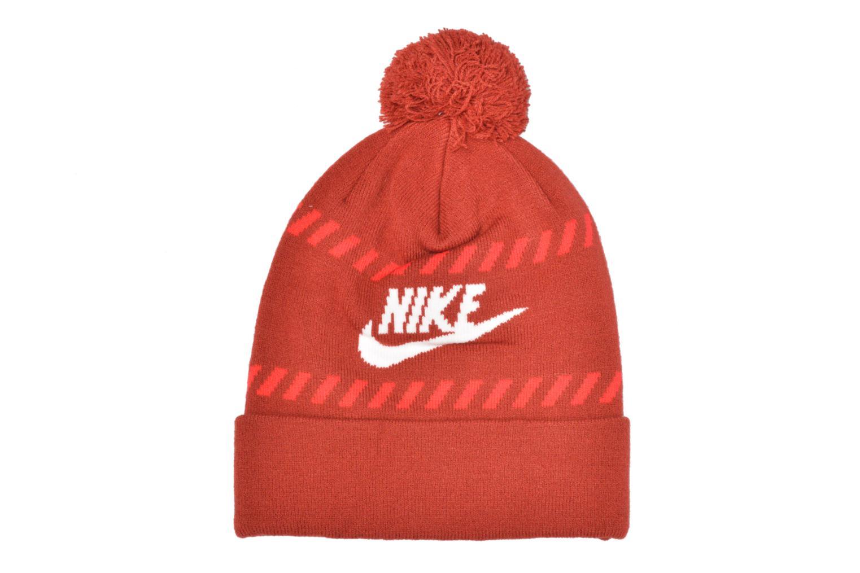 Berretto Nike Futura Pom Beanie-Red Bonnet Rosso modello indossato