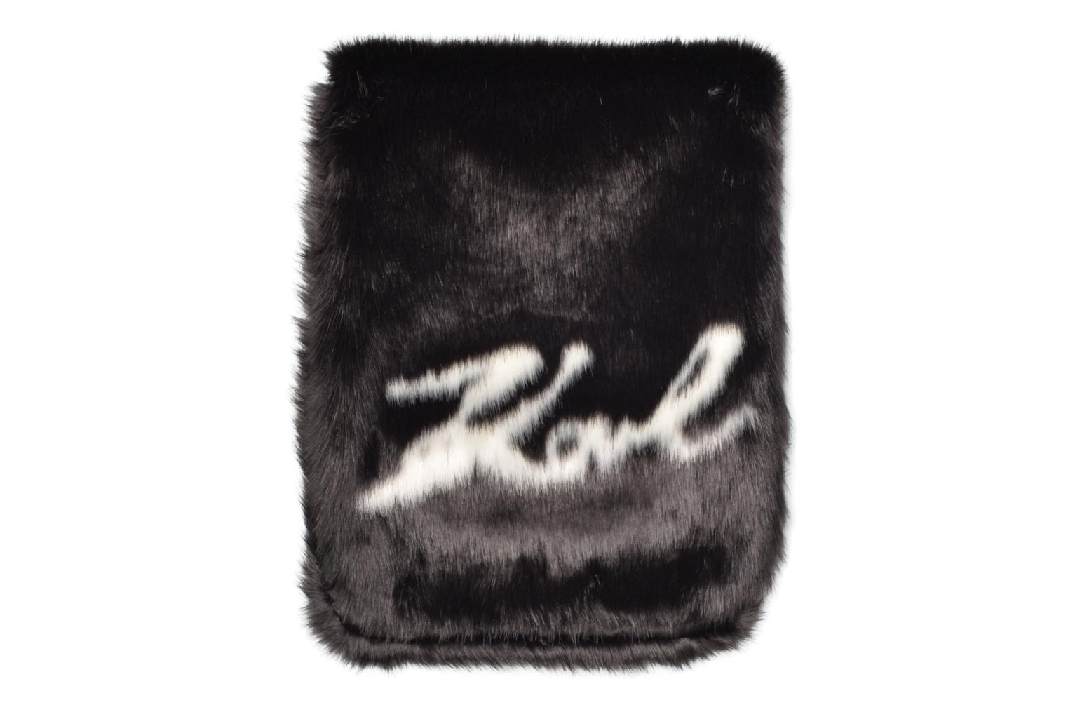 Miscellaneous KARL LAGERFELD Holiday Fur scarf Black detailed view/ Pair view