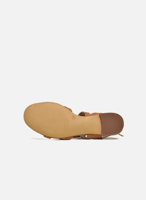 Sandalias I Love Shoes FELICE Marrón vista de arriba