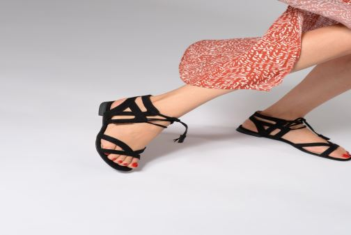 Sandals I Love Shoes FELICE Black view from underneath / model view