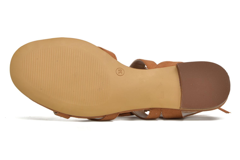 Sandales et nu-pieds I Love Shoes FELICE Marron vue haut
