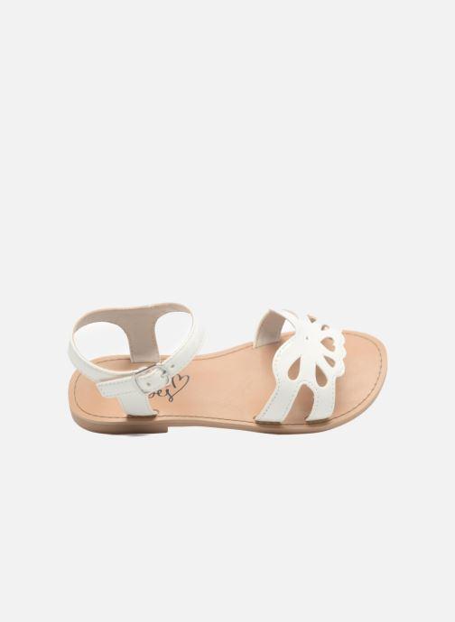 Sandalen I Love Shoes FIDELI weiß ansicht von links