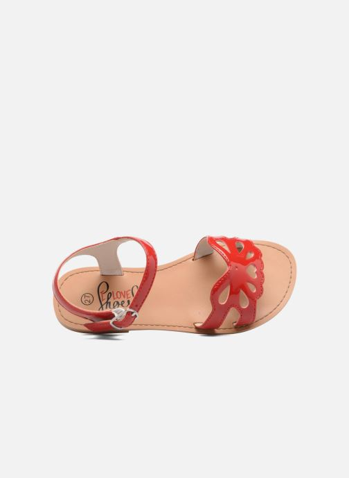 Sandalen I Love Shoes FIDELI rot ansicht von links