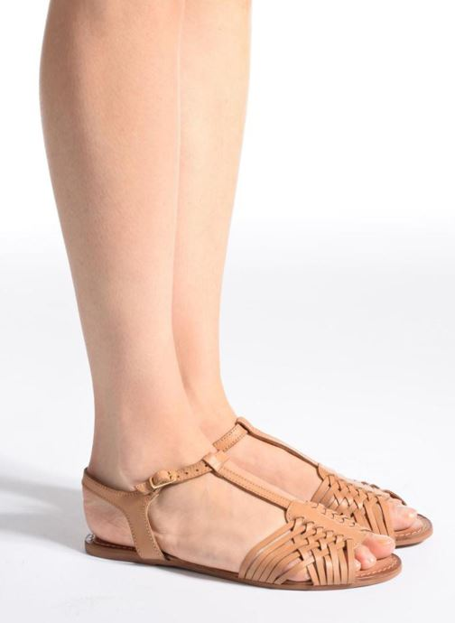 Sandales et nu-pieds I Love Shoes KETRES Leather Bleu vue bas / vue portée sac