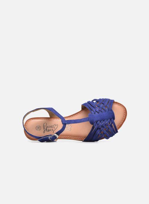Sandales et nu-pieds I Love Shoes KETRES Leather Bleu vue gauche