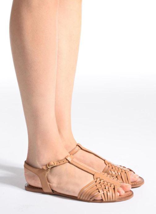 Sandalen I Love Shoes KETRES Leather gold/bronze ansicht von unten / tasche getragen
