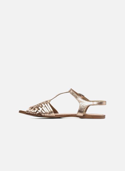 Sandales et nu-pieds I Love Shoes KETRES Leather Or et bronze vue face