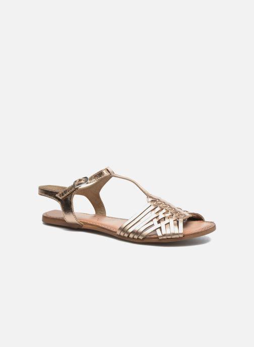 Sandales et nu-pieds I Love Shoes KETRES Leather Or et bronze vue détail/paire