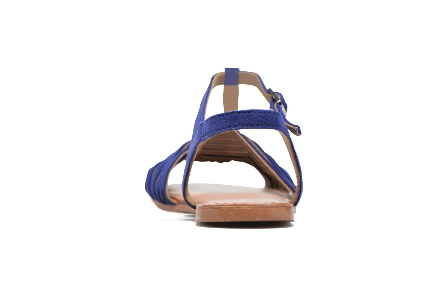 Sandals I Love Shoes KETRES Leather Blue view from the right