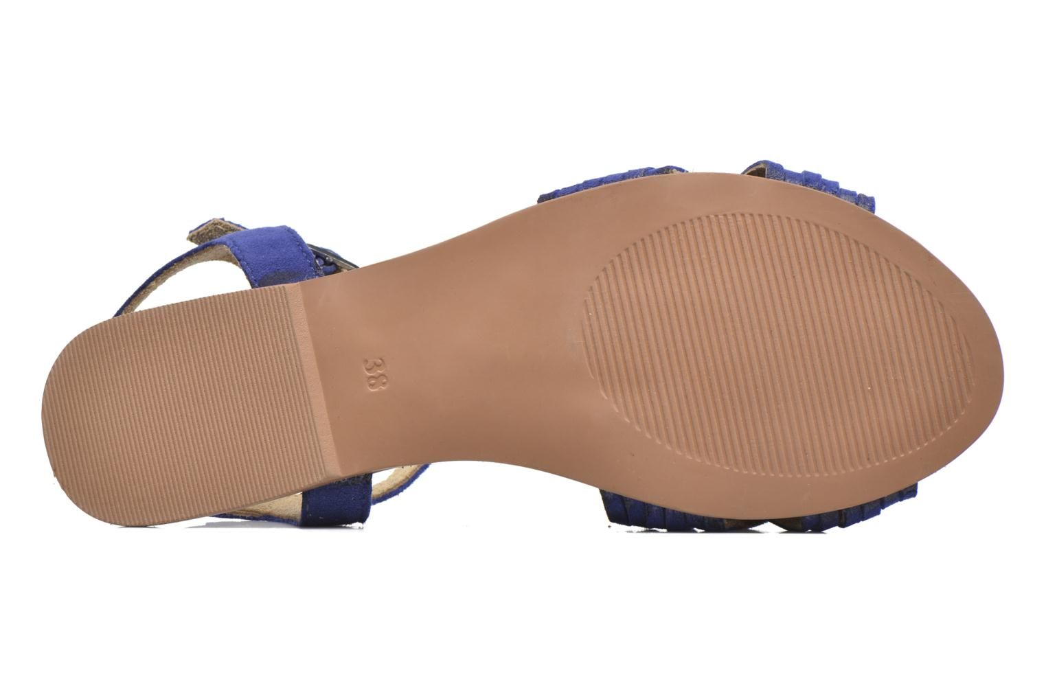 Sandals I Love Shoes KETRES Leather Blue view from above