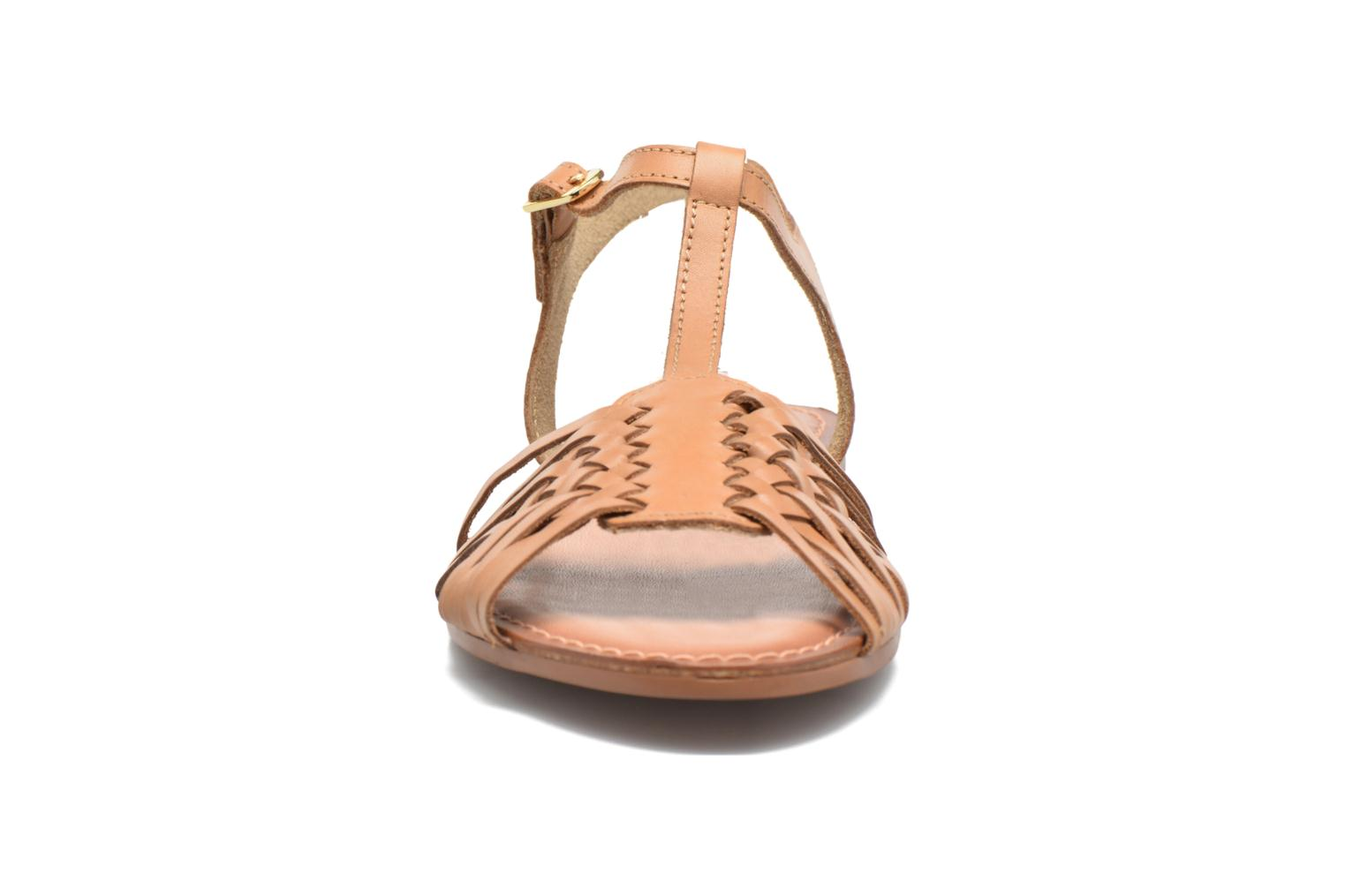 Sandals I Love Shoes KETRES Leather Brown model view