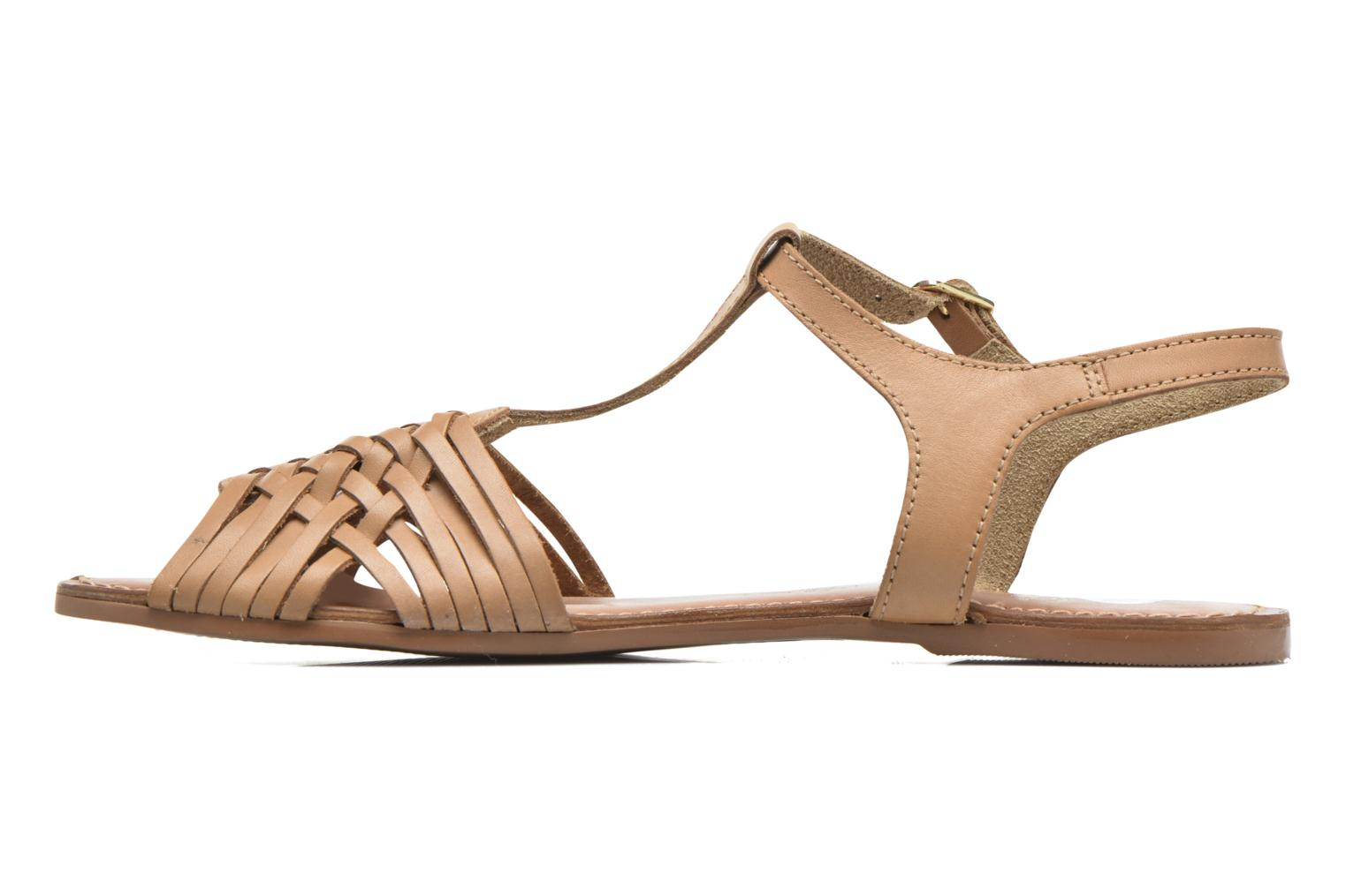 Sandals I Love Shoes KETRES Leather Brown front view