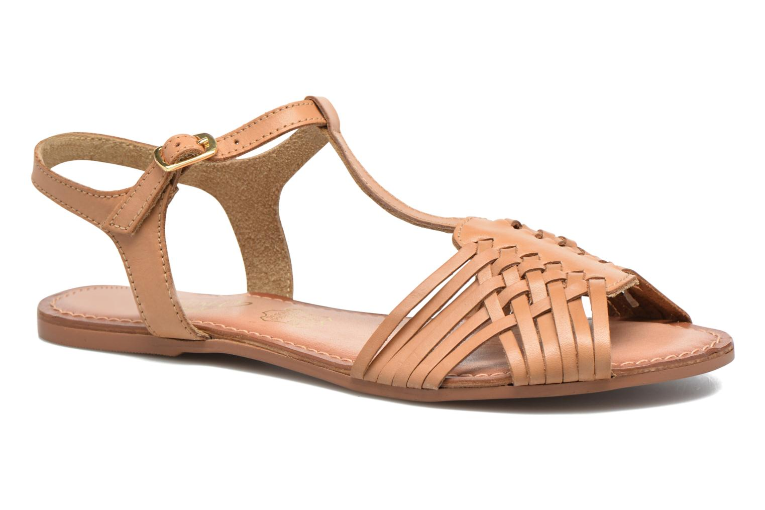 Sandals I Love Shoes KETRES Leather Brown detailed view/ Pair view