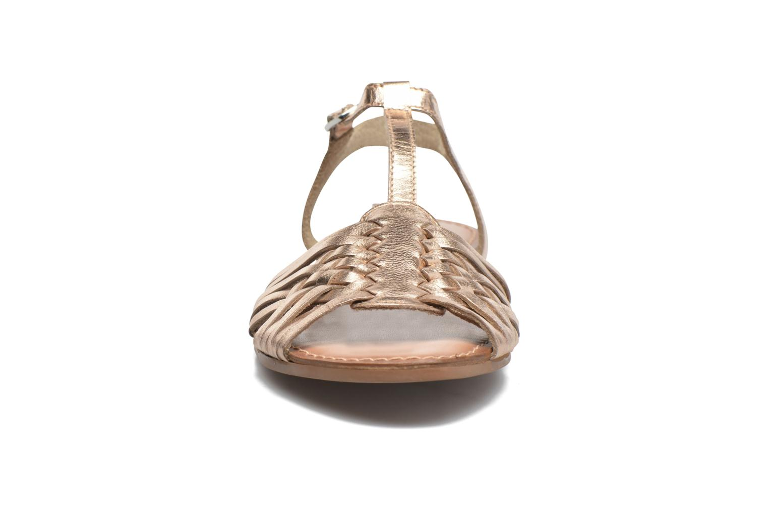 Sandalias I Love Shoes KETRES Leather Oro y bronce vista del modelo