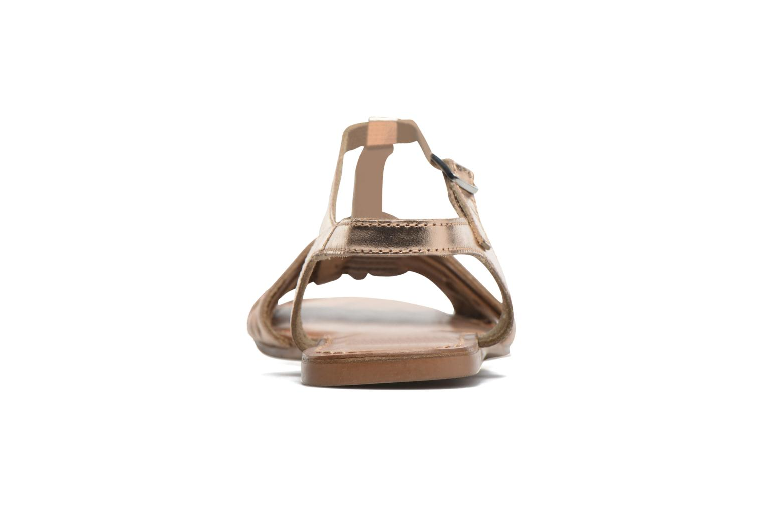 Sandalias I Love Shoes KETRES Leather Oro y bronce vista lateral derecha