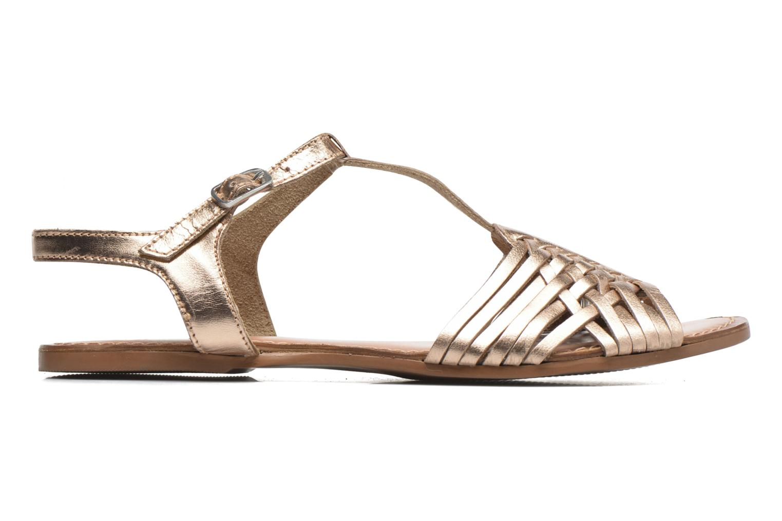 Sandalias I Love Shoes KETRES Leather Oro y bronce vistra trasera