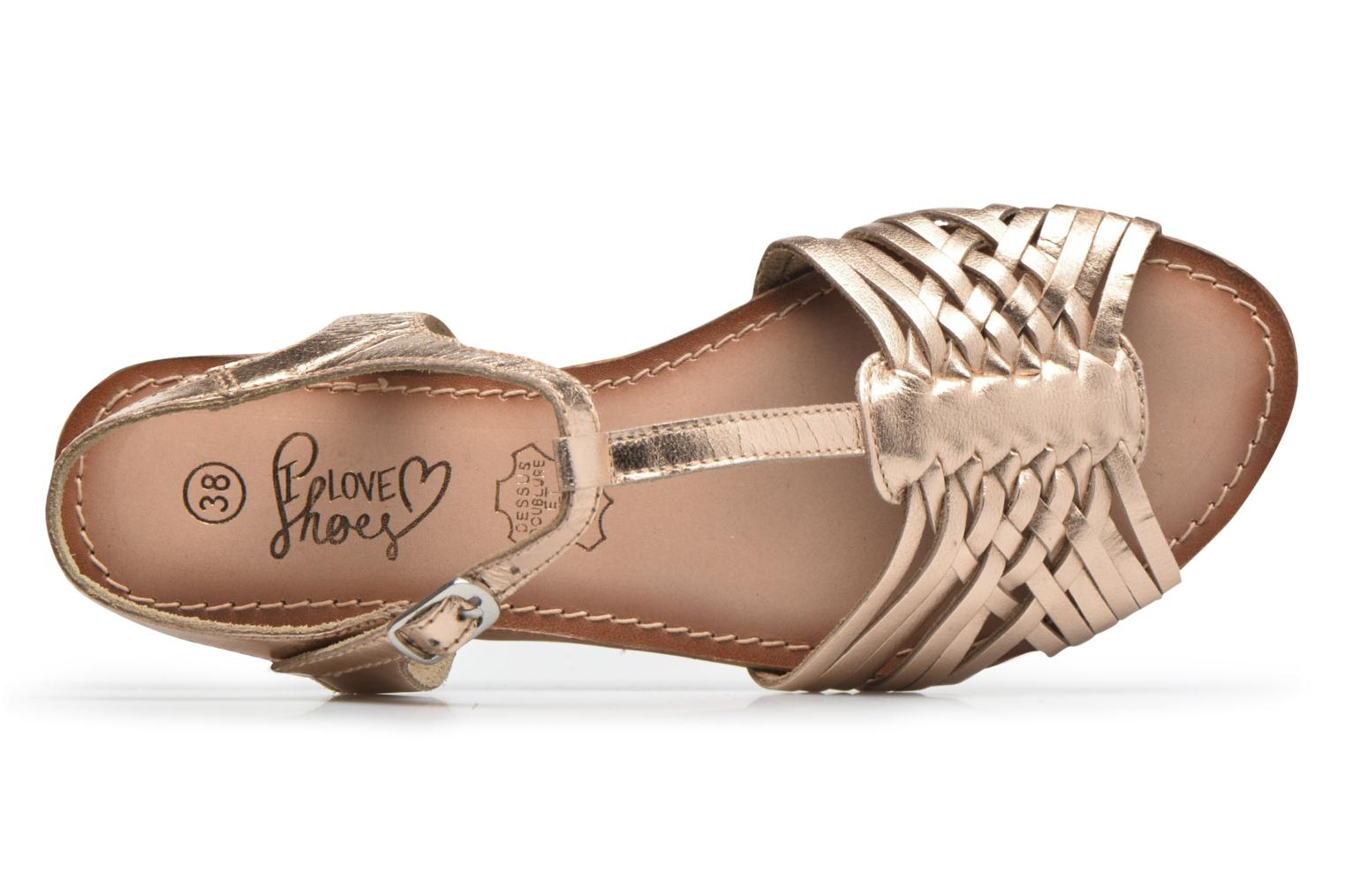 Sandalias I Love Shoes KETRES Leather Oro y bronce vista lateral izquierda