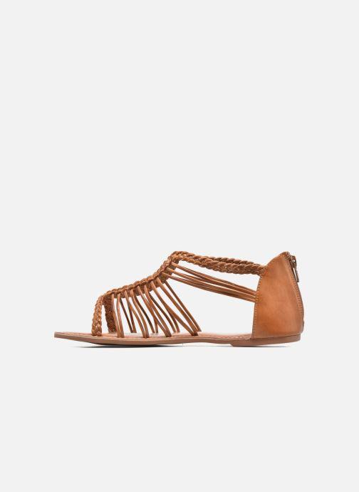 Sandales et nu-pieds I Love Shoes KEMIA Leather Marron vue face
