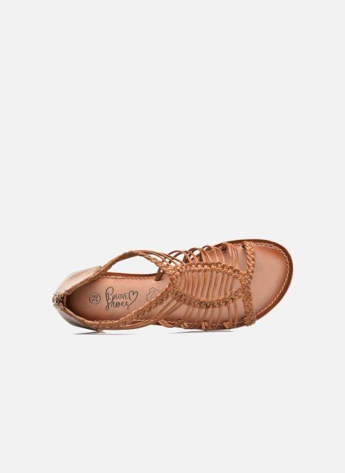 Sandales et nu-pieds I Love Shoes KEMIA Leather Marron vue gauche