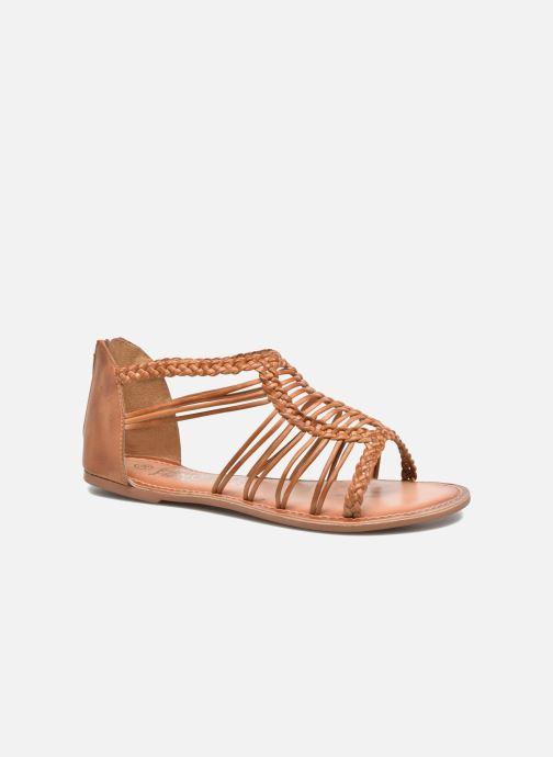 Sandales et nu-pieds I Love Shoes KEMIA Leather Marron vue détail/paire