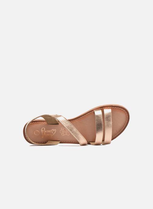Sandalen I Love Shoes KEUNI Leather Goud en brons links