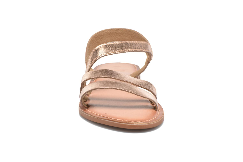 Sandales et nu-pieds I Love Shoes KEUNI Leather Or et bronze vue portées chaussures