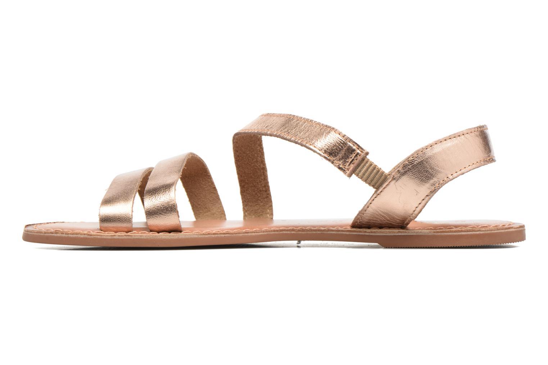 Sandales et nu-pieds I Love Shoes KEUNI Leather Or et bronze vue face