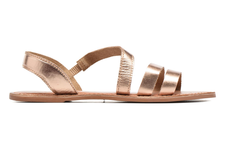 Sandales et nu-pieds I Love Shoes KEUNI Leather Or et bronze vue derrière