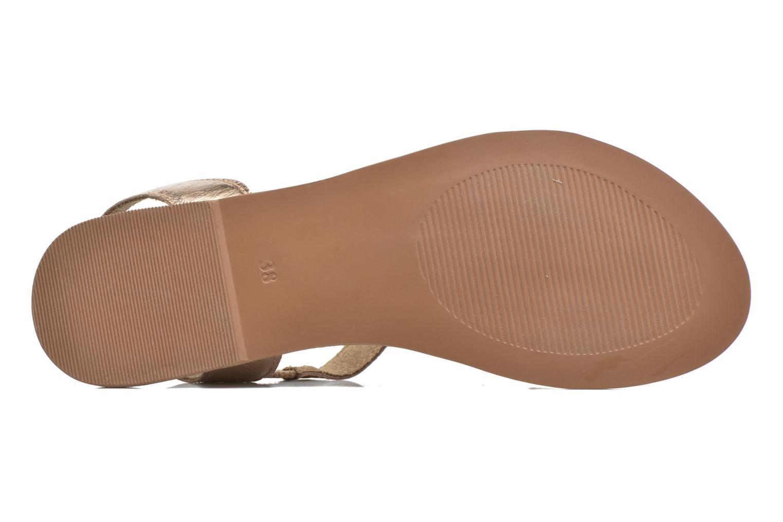 Sandales et nu-pieds I Love Shoes KEUNI Leather Or et bronze vue haut
