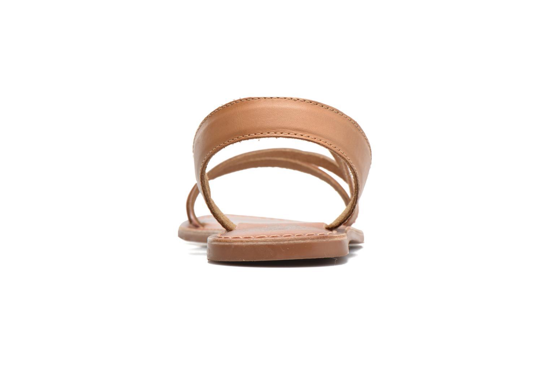 Sandalias I Love Shoes KEUNI Leather Marrón vista lateral derecha