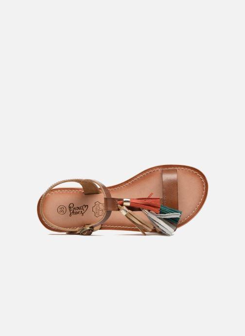 Sandalias I Love Shoes KEPOM Leather Marrón vista lateral izquierda