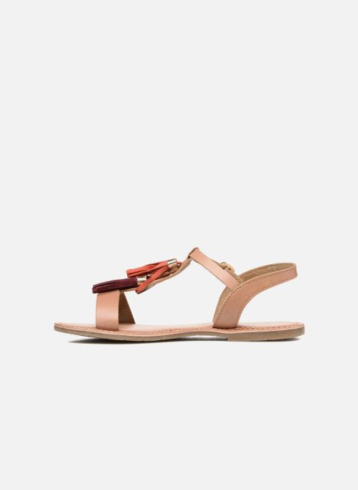 Sandals I Love Shoes KEPOM Leather Brown front view